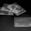 tarjeta de visita en metacrilato.